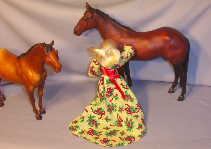 Breyer doll Renaissance Medieval Christmas Dress