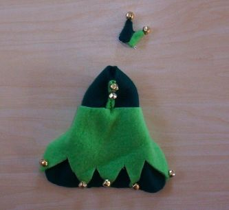 Light/Dark Green Jester Outfit with Hat