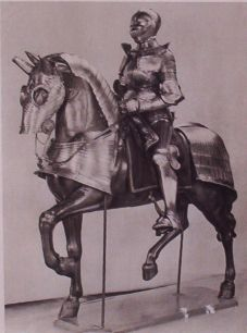 Armoured Knight and Horse Print