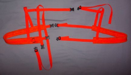 Orange Harness w/ Orange Padding
